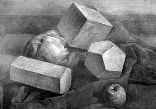 素描图片几何体组合-结构素描图片几何体-组合图形-3.图片