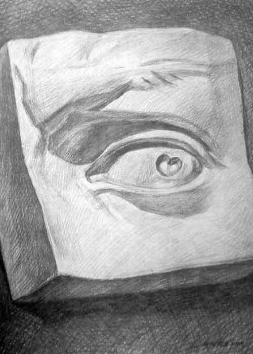 石膏眼睛素描画法