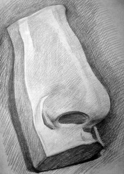 素描鼻子的画法图解 素描嘴巴画法 杨幂素描画法步骤图 女孩素描简单图片