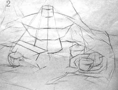 结构素描静物默画的表现方法与步骤