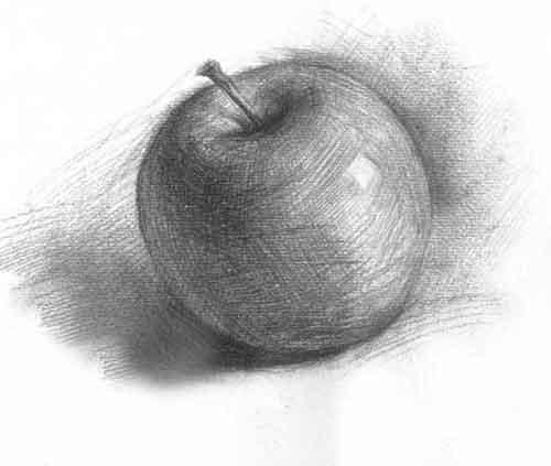 素描苹果画法