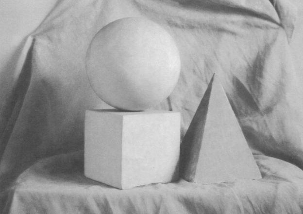 几何形体组合写生步骤