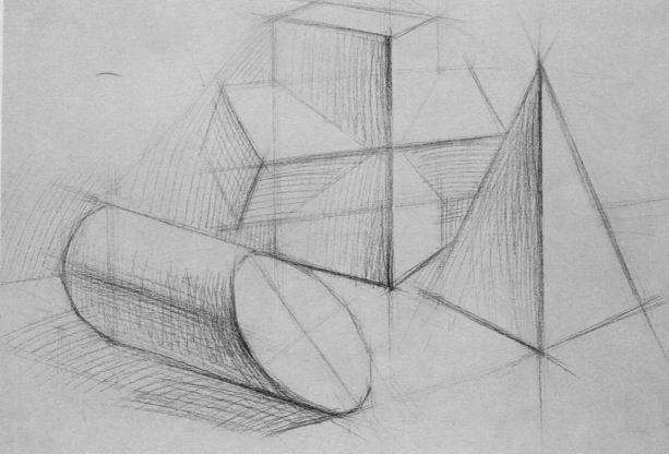 素描几何形体图片大 素描几何形体 几何形体素描图片大全图片