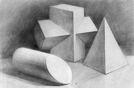 何形体组合写生步骤图片