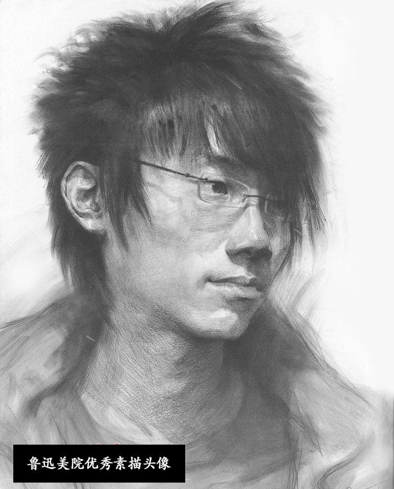 2013年鲁迅美术学院素描头像优秀试卷(第1组)