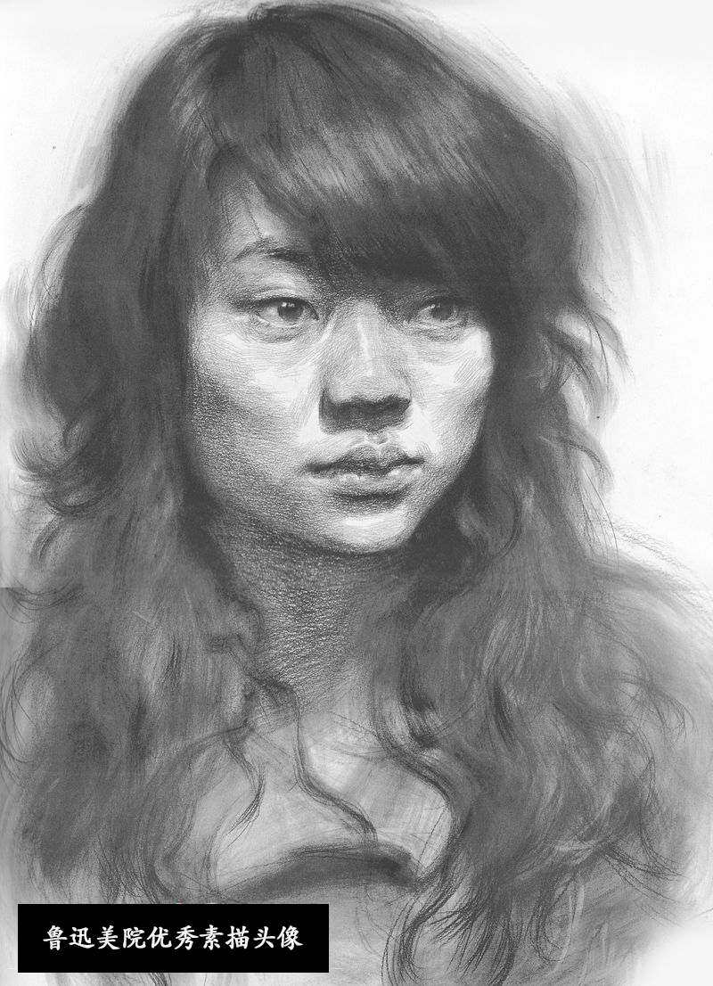 2013年鲁迅美术学院素描头像优秀试卷(第2组)