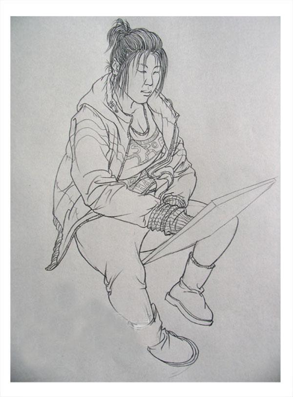 笑笑美术兵团 速写作品2_河南画室_中华美术高考网www