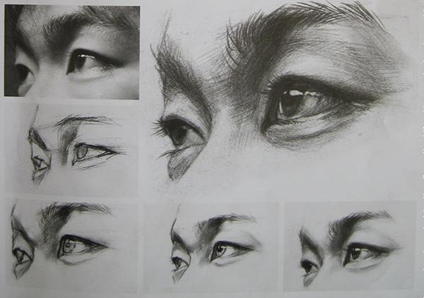 素描人物头像五官画法素描苹果的画法素描的基本