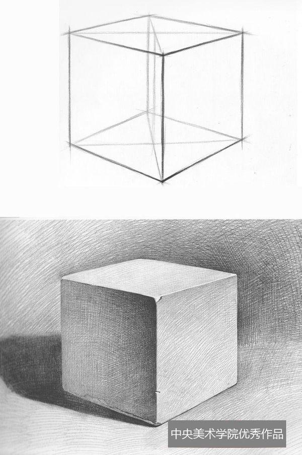 几何形体结构素描几何结构素描石膏头像结构素描