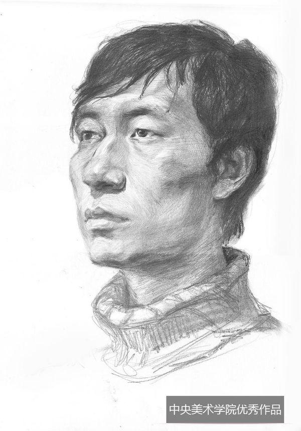2013年中央美术学院优秀头像素描试卷(第5组)