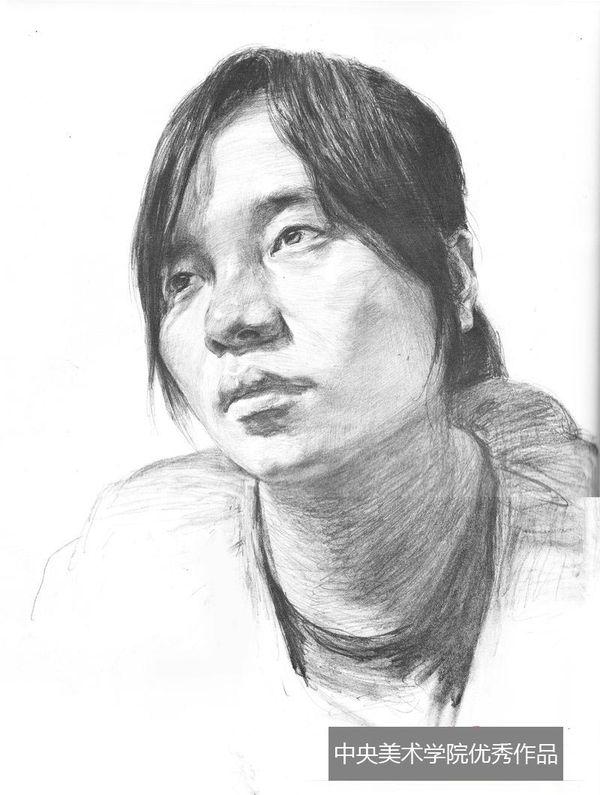 2013年中央美术学院优秀头像素描试卷(第7组)