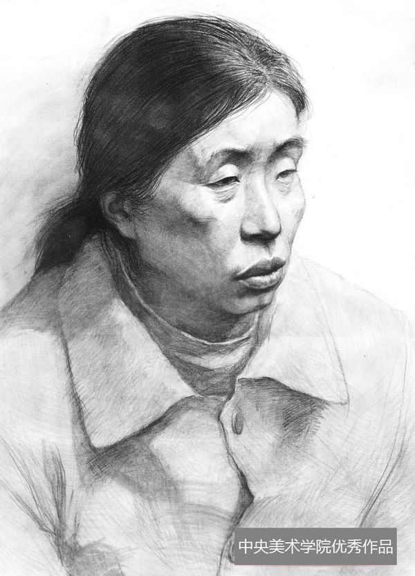 2013年中央美术学院优秀头像素描试卷(第9组)