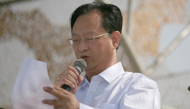 中央美术学院孙红培副书记宣读军训团表彰决定
