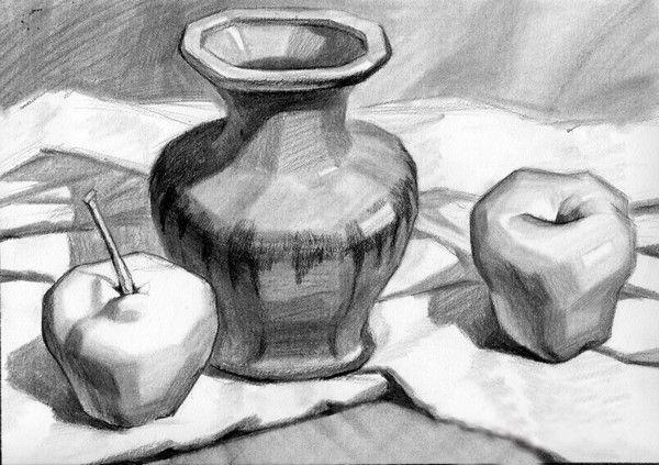 罐子素描结构_素描罐子的画法_素描静物罐子画法_白