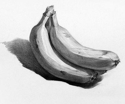 素描入门香蕉的画法 素描教程 美术教程 河南艺术