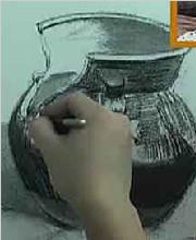 单个物体素描静物罐子的画法