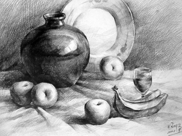 素描眼睛的画法_风景素描树的画法