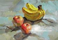 苹果香蕉组合色彩静物画法-艺考讲堂