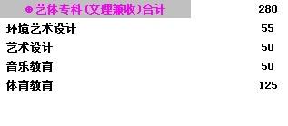 2013年四川理工大学艺术类招生计划