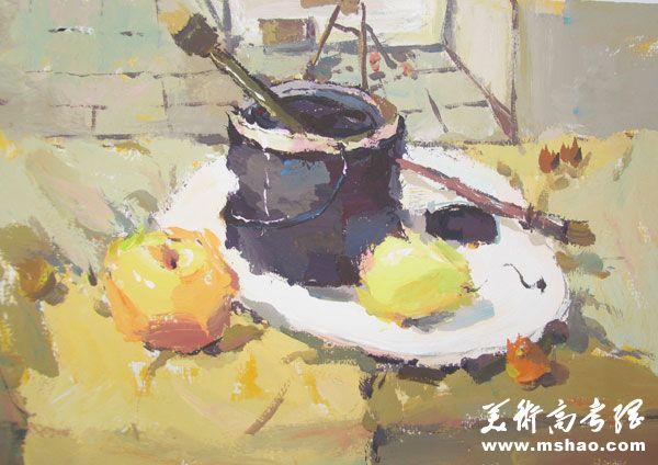 江南大学2013年美术设计类色彩题目学艺生活2
