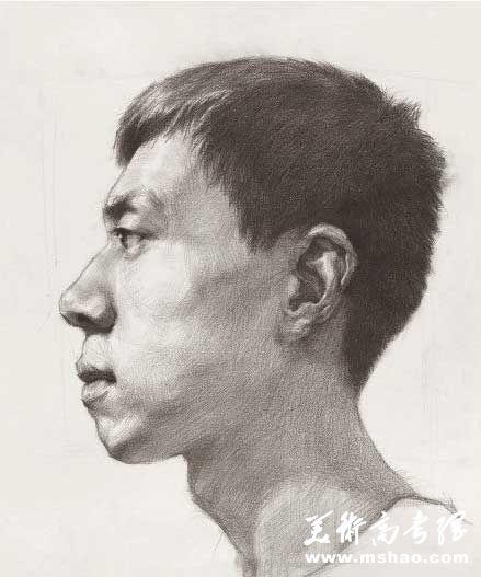 素描头像男青年_素描头像照片素材_石膏素描头像_欧美素描头像 - 黑马