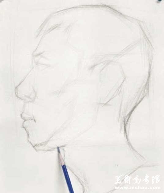 美术校考真人头像写生高分实例教程4