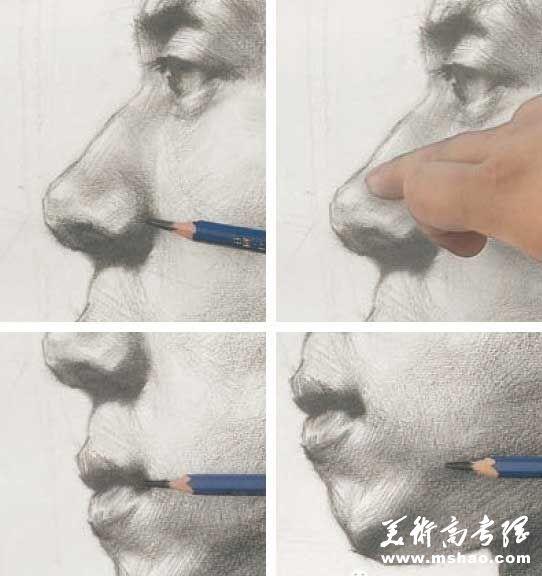 美术校考真人头像写生高分实例教程8