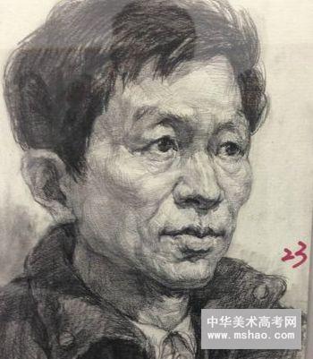 天津美术学院近年素描头像高分试卷
