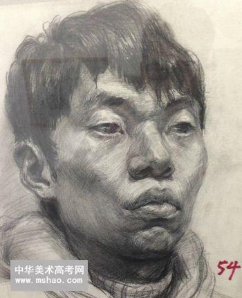 天津美术学院素描头像高分试卷