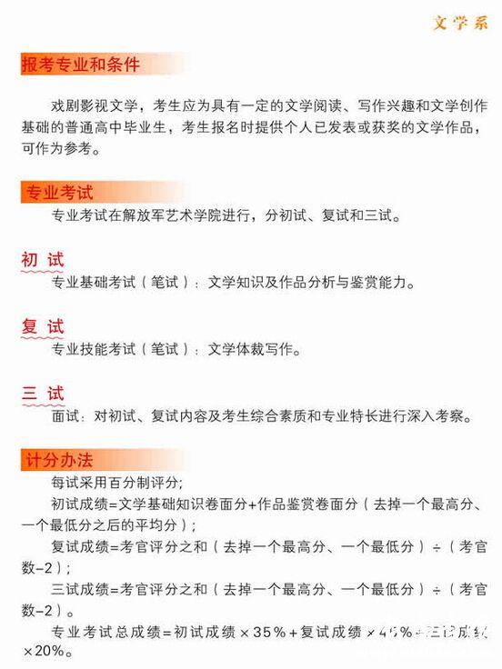 解放军艺术学院2015年艺术类专业招生简章3