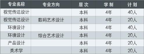 天津财经大学2015年艺术类专业招生计划