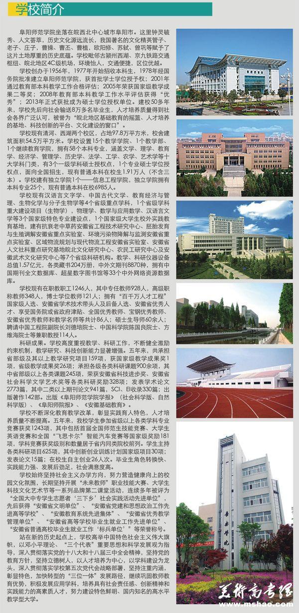 阜阳师范学院2015年艺术类专业招生简章2