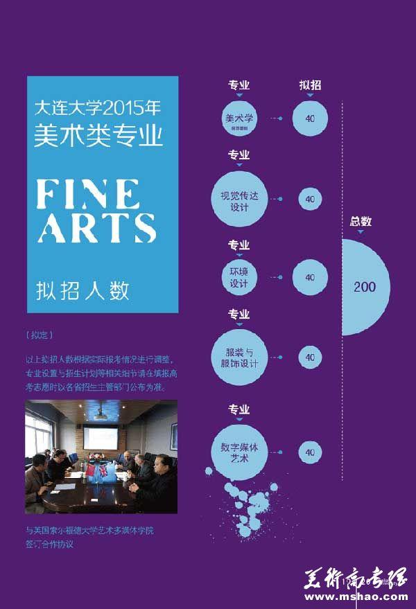 大连大学2015年艺术类专业招生计划
