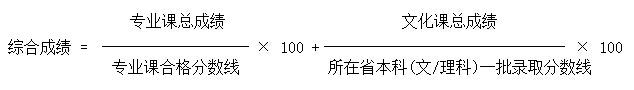 北京服装学院2015年艺术类专业录取原则