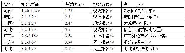 湘潭大学2015年艺术类专业校考考点时间安排