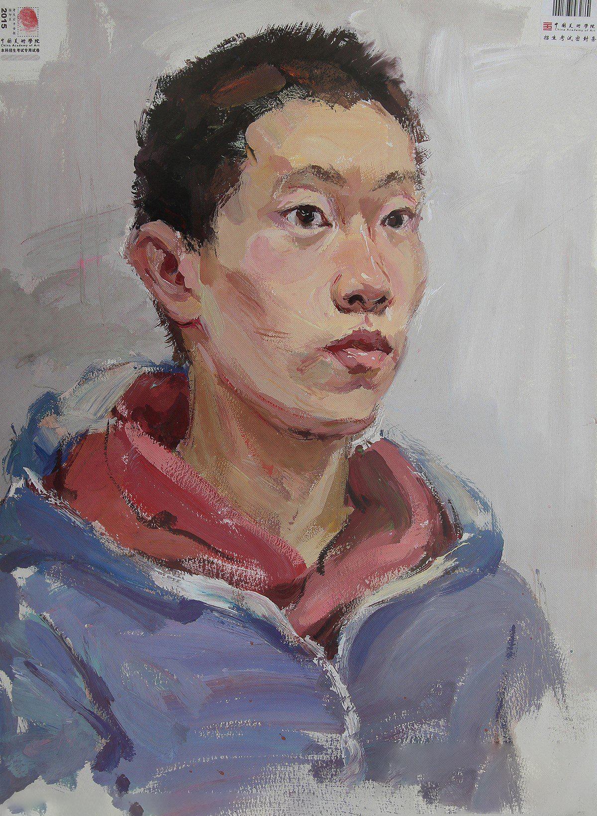 2015年中国美术学院优秀色彩试卷(男青年)