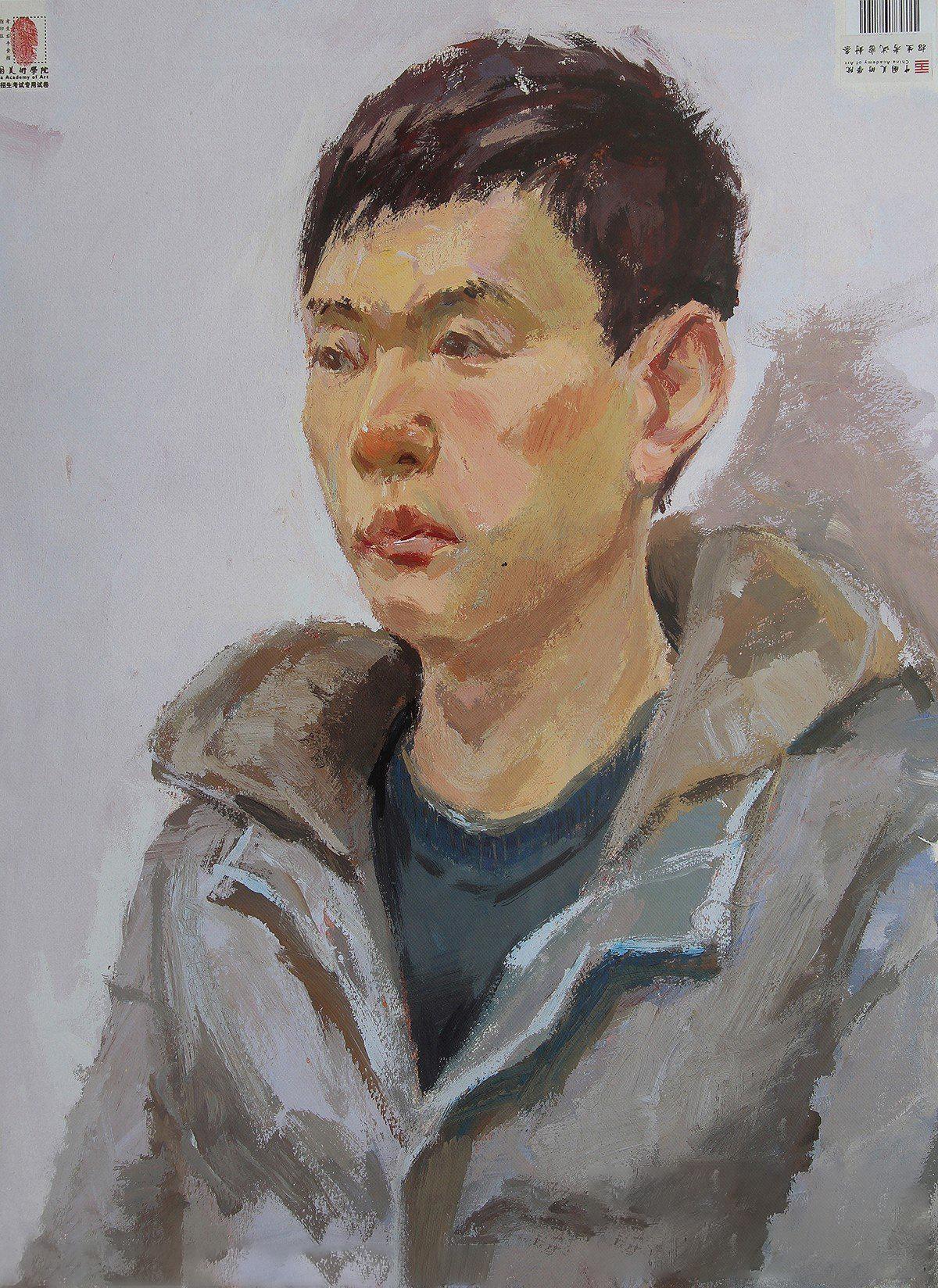 2015年中国美术学院高分色彩试卷(男青年)