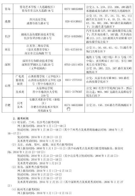 浙江传媒学院2016年艺术类专业招生简章6