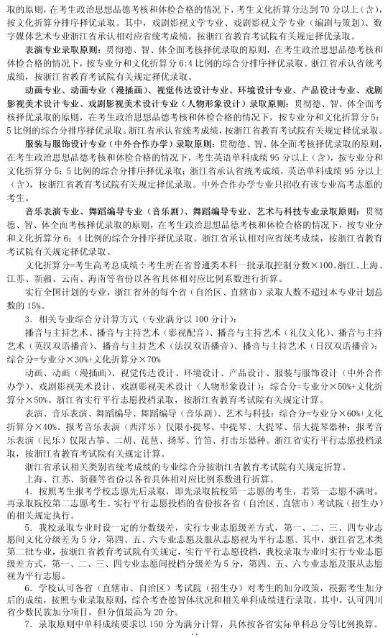 浙江传媒学院2016年艺术类专业招生简章11