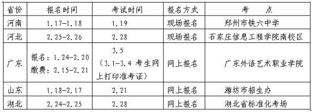湘潭大学2016年艺术类专业校考考点时间安排