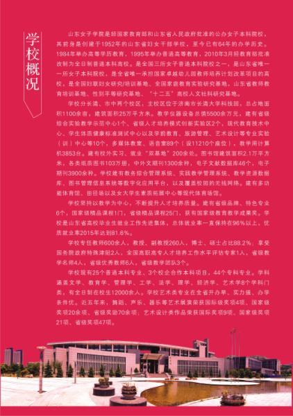 山东女子学院2016年艺术类专业招生简章2