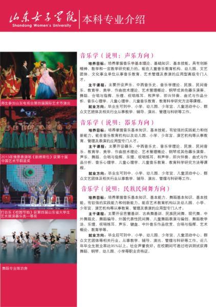 山东女子学院2016年艺术类专业招生简章6