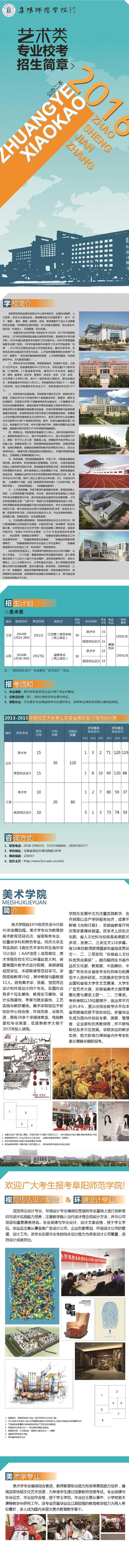 阜阳师范学院2016年省外艺术类专业校考招生简章