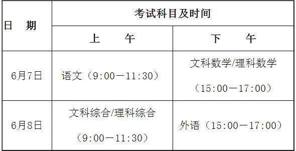 广东高考科目时间一览 今年广东高考有什么新变化?