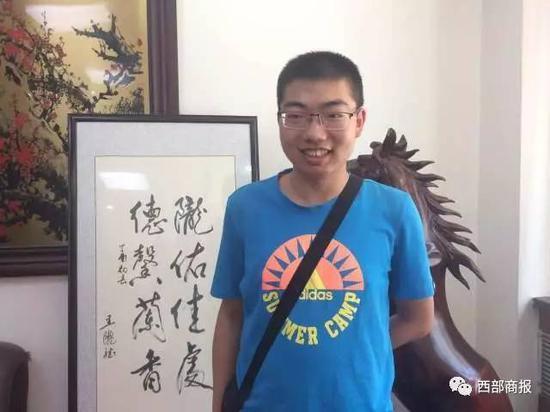 2017年甘肃高考文科状元:熊诗楠654分 来自西北师大附中