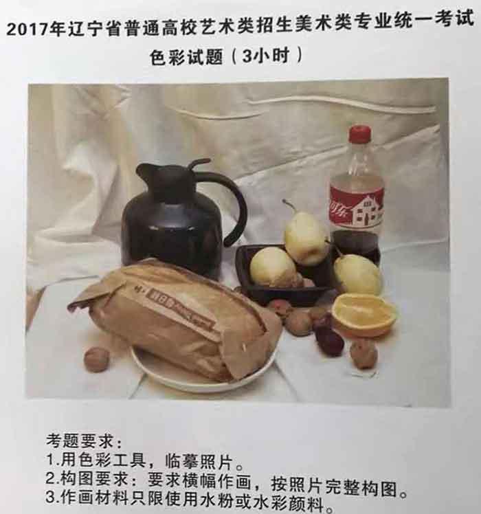 2017年辽宁美术联考/统考色彩考题