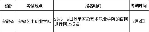 江西服装学院2018年安徽省艺术类报考须知