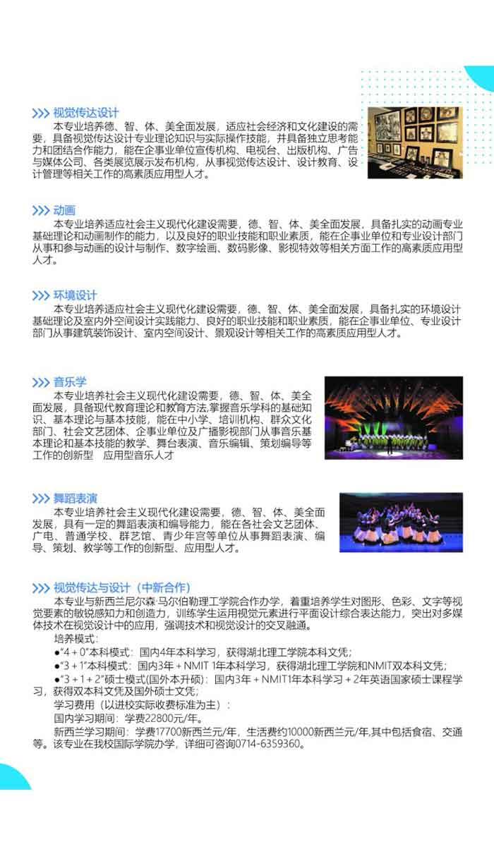 湖北理工学院2018年艺术类专业招生简章3