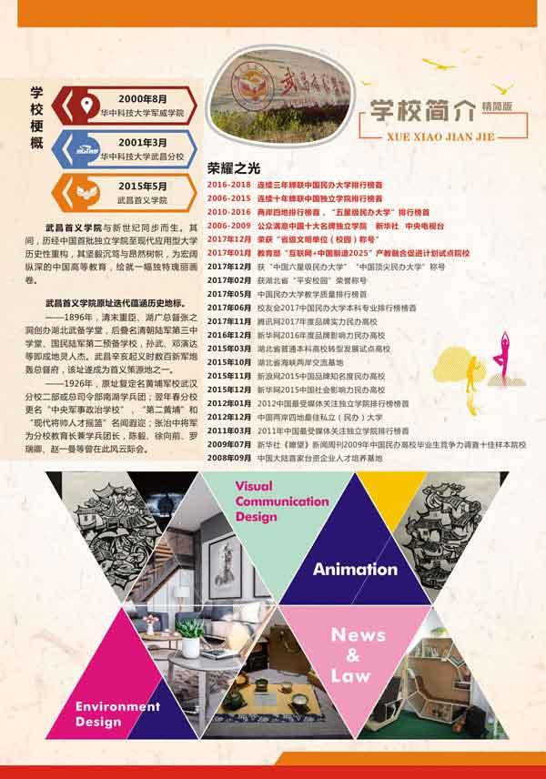武昌首义学院2018年艺术类专业招生简章2