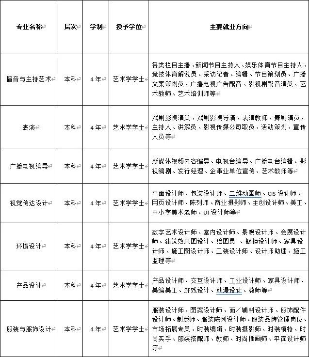 四川大学锦城学院2021年艺术类专业招生简章